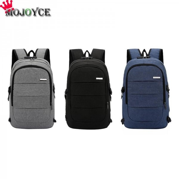 Men Casual Laptop Backpack Handbag USB Charging Shoulder Backpack Business Travel Knapsack Rucksack Backpack Extra Image 2