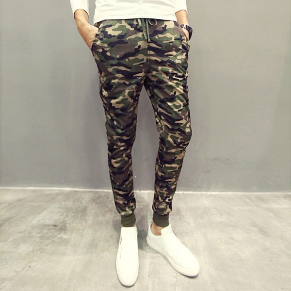 Men Casual Pants New Camouflage Slim Fit Army Camouflage Trousers Pencil Camo Pants Hip Hop Sweatpants Military Joggers Extra Image 2