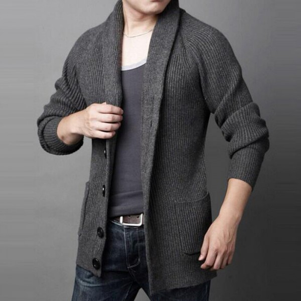 Men Casual Sweater 2018 New Arrival Thick Warm Autumn Winter Male Single Breasted Cardigan Masculino Plus Size Extra Image 2