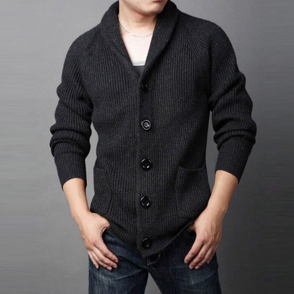 Men Casual Sweater 2018 New Arrival Thick Warm Autumn Winter Male Single Breasted Cardigan Masculino Plus Size Extra Image 3