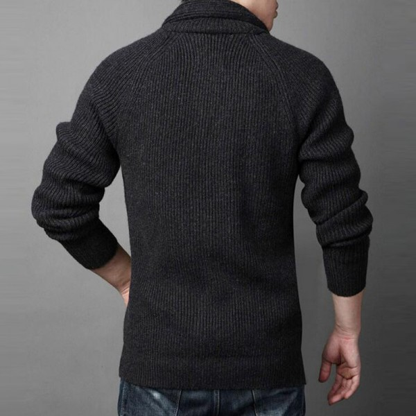 Men Casual Sweater 2018 New Arrival Thick Warm Autumn Winter Male Single Breasted Cardigan Masculino Plus Size Extra Image 5