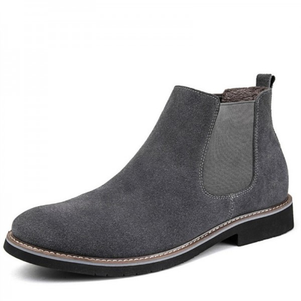 Men Chelsea Boots Ankle Boots Fashion Mens Male Brand Leather Quality Slip On Motorcycle Boots Man Warm Footwear Extra Image 4