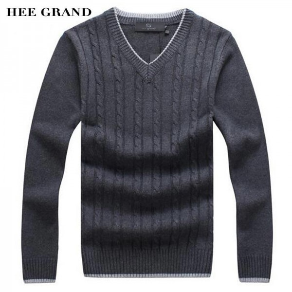 Men Fashion Sweater V Neck Thick Whole Cotton Windproof Twisted Pattern Warm Winter Pullovers Plus Size Male Outwear Extra Image 1