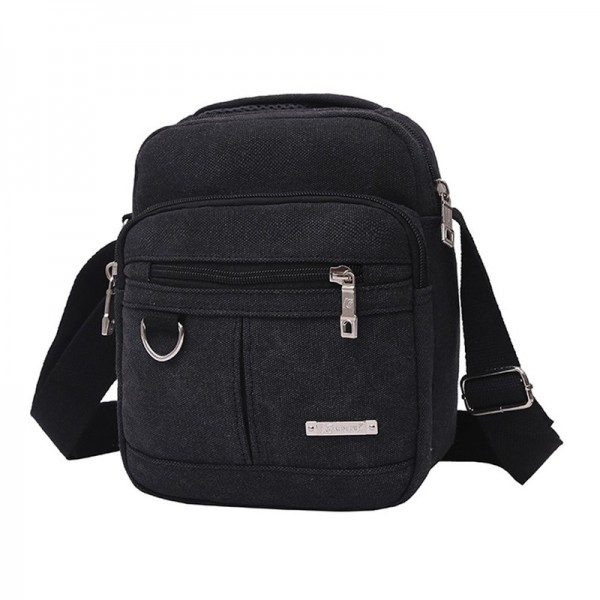 Men Fashion Travel Cool Canvas Bag Men Messenger Crossbody Bags Shoulder Bags Pack School Bags for Teenager Extra Image 2