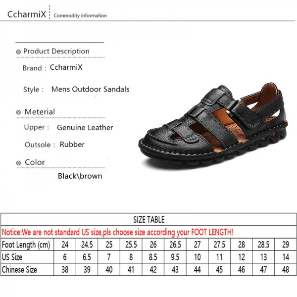 Men Genuine Leather Slides Sandals Gladiator Lightweight Summer Slip Resistant Minimalist Business Sandals Plus Size Extra Image 5