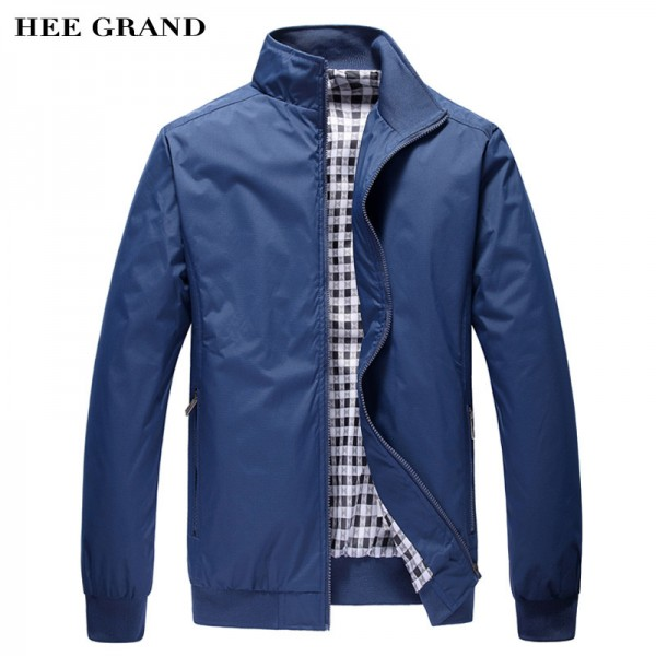 Men Jacket Spring Autumn Fashion Overcoat 2018 New Arrival Stand Collar Slim Casual Style Whole Sale 3 Colors Outwear Extra Image 1