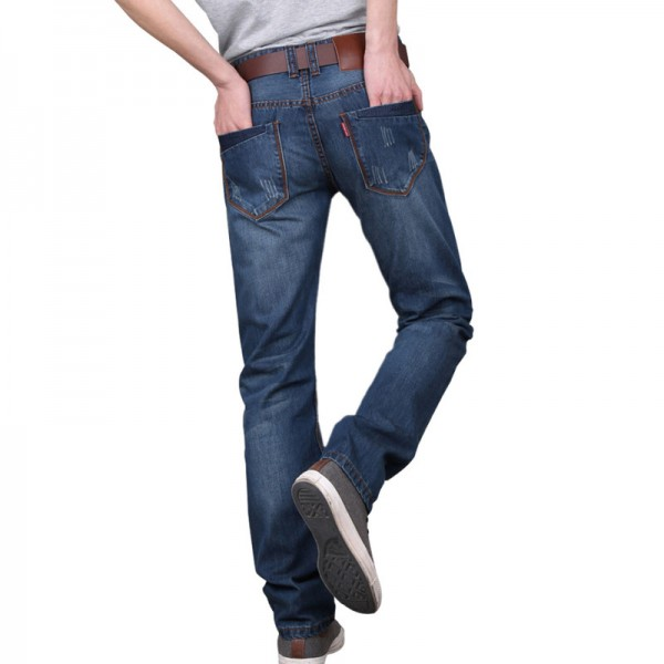 Men jeans pants Dark Wash Jeans Casual ripped jeans for men Effect Stonewashed High Quality Jeans Denim male Extra Image 2
