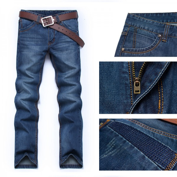 Men jeans pants Dark Wash Jeans Casual ripped jeans for men Effect Stonewashed High Quality Jeans Denim male Extra Image 3
