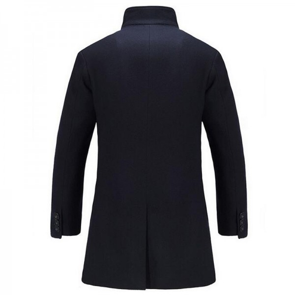 Men Long Stretch Blends Hot Sale Autumn Winter Turn Down Collar Cashmere Fashion Coat Plus Size Male Blazers Coats Extra Image 5