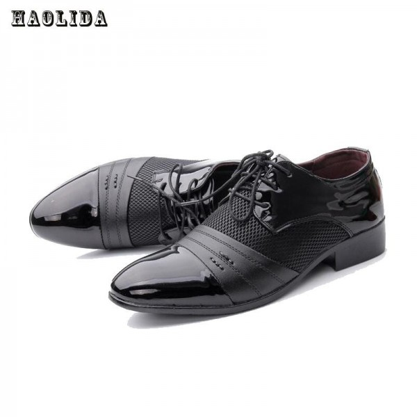 Men Office Business Patent Dress Oxfords Shoes Luxury Brand Pointed Toe Leather Shoes For Male Comfortable Loafers Extra Image 5