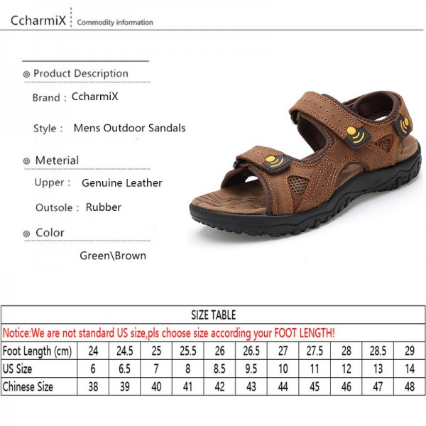 Men Sandals Breathable Outdoor Leisure Shoes Men New Arrival Genuine Leather Beach Men Sandals Big Size Flip Flops Extra Image 5