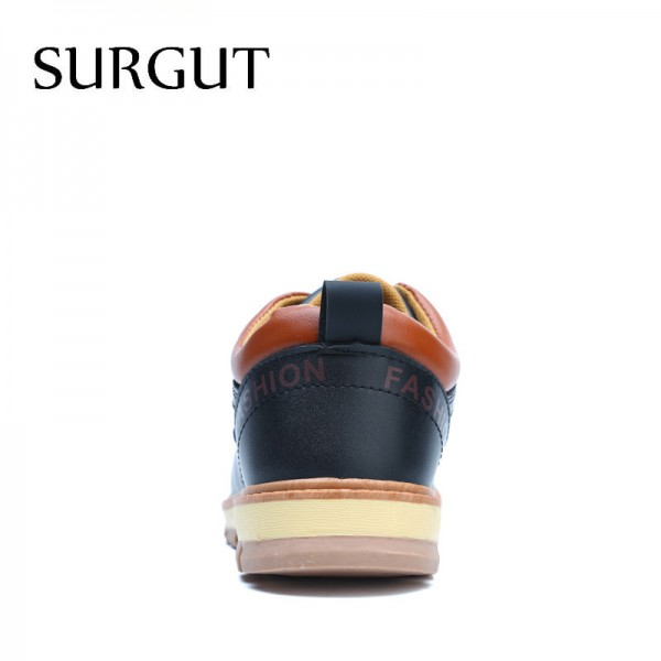 Men Shoes New Spring and Autumn Casual Fashion Safety Oxfords Breathable Flat Footwear Pu Leather Waterproof Shoes Men Extra Image 4