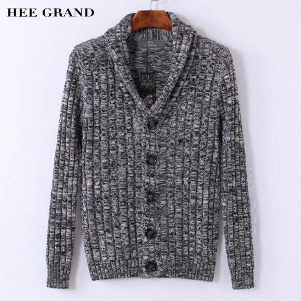 Men Stylish Sweater 2018 New V Neck Design Pure Cotton Material Single Breasted Autumn Cardigan Plus Size Extra Image 1