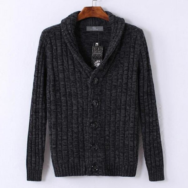 Men Stylish Sweater 2018 New V Neck Design Pure Cotton Material Single Breasted Autumn Cardigan Plus Size Extra Image 2