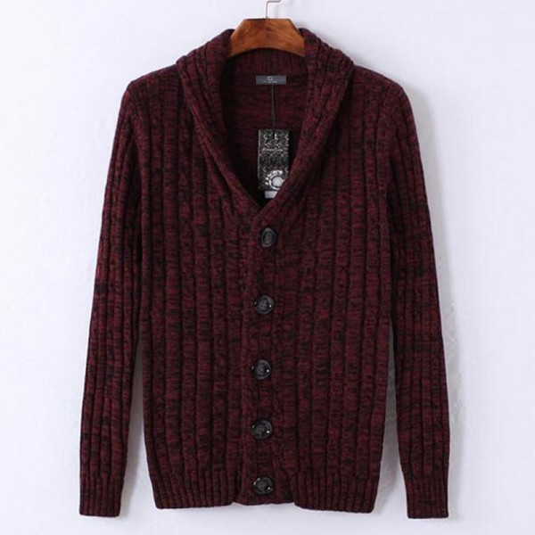 Men Stylish Sweater 2018 New V Neck Design Pure Cotton Material Single Breasted Autumn Cardigan Plus Size Extra Image 3