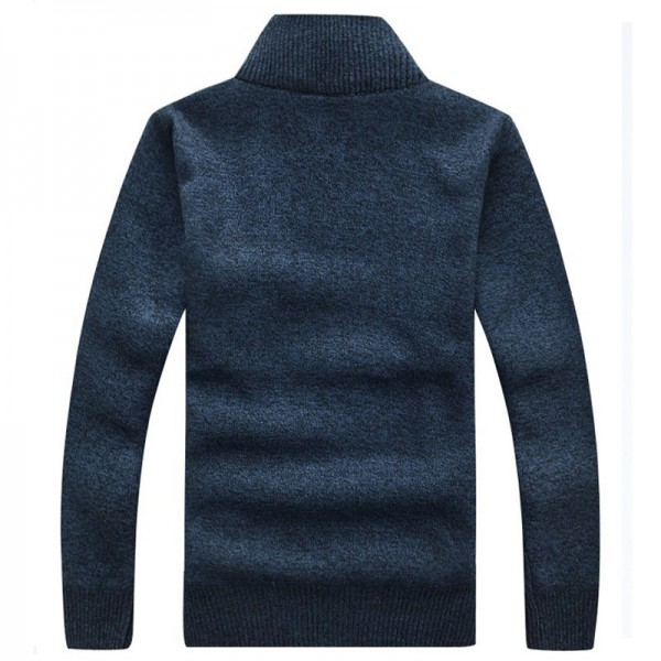 Men Sweaters New Arrival Autumn Winter Casual Stand Collar Thick Zipper Pullover M 3XL Size 7 Colors Male Sweaters Extra Image 5