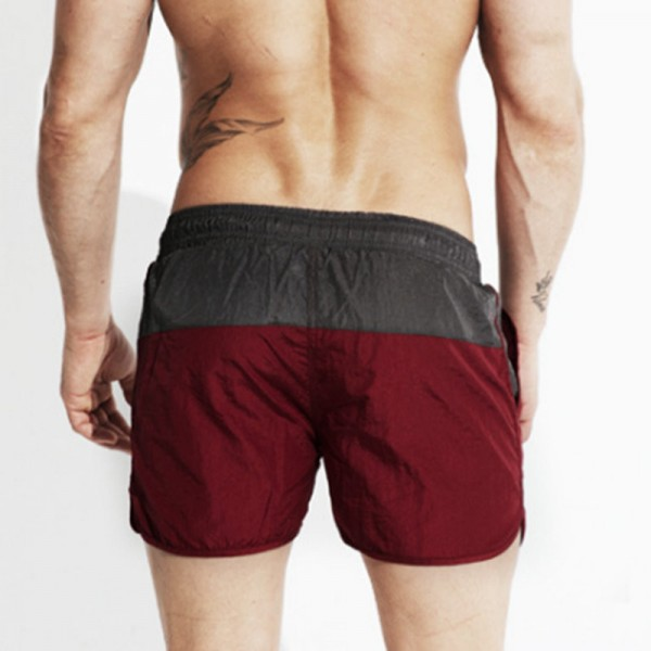 Men Swimming Shorts for Men Swim Trunks Sexy 2 Color Patchwork Beach Wear Shorts 2018 Summer Swimsuit Man Surf Extra Image 3