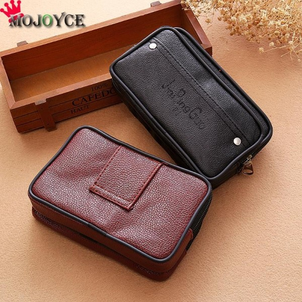 Men Waist Pack Bags PU Leather Casual Small Belt Wallets Phone Holder Belt Money Pack Wallet Purse Extra Image 3