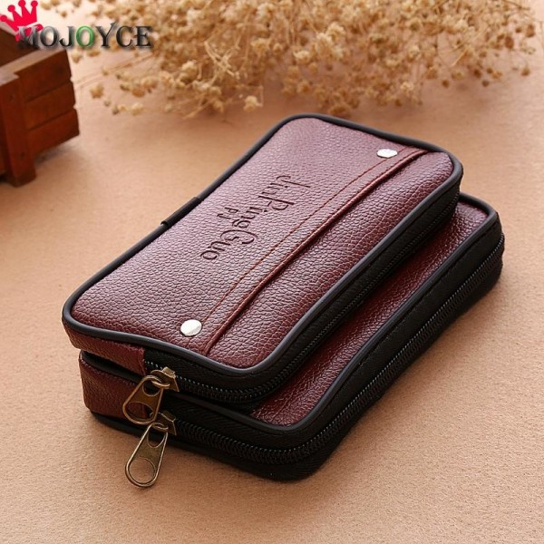 Men Waist Pack Bags PU Leather Casual Small Belt Wallets Phone Holder Belt Money Pack Wallet Purse Extra Image 4