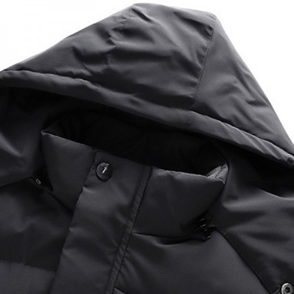 Men Wind Water Proof Warm Jackets Coats Hombre Male Casual Fashion Slim Fit Large Size Zipper Hooded Jackets Men Extra Image 4