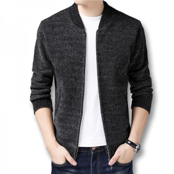 Men Winter Autumn Thick Fleece Sweater Jackets Cardigans Knitwear Male Casual Fashion Slim Fit Large Size Sweater Extra Image 2