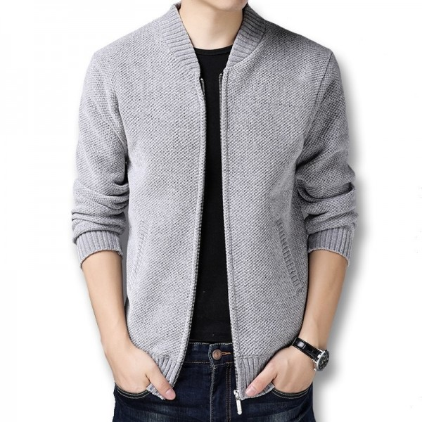 Men Winter Autumn Thick Fleece Sweater Jackets Cardigans Knitwear Male Casual Fashion Slim Fit Large Size Sweater Extra Image 5