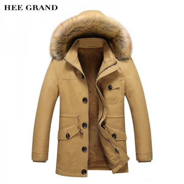 Men Winter Warm Parkas New Arrival Thickening Of Cotton Fashion Coat Multi Pockets Design Plus Size Male Outwear Extra Image 1