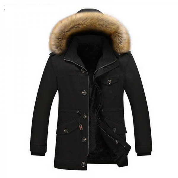 Men Winter Warm Parkas New Arrival Thickening Of Cotton Fashion Coat Multi Pockets Design Plus Size Male Outwear Extra Image 3