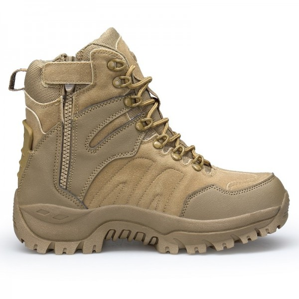 Mens Boots Military boot Combat Mens Chukka Ankle Bot Tactical Big Size Army Bot Male Shoes Safety Motorcycle Boots Extra Image 3