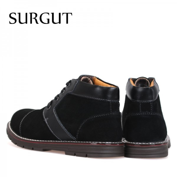 Mens Boots Non Slip Ankle Snow Boots Cool Winter Warm Fluff Cotton Lace Up 2018 New Arrival Fashion Boots For Men Extra Image 2