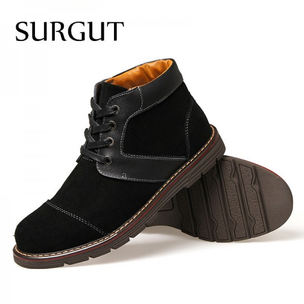 Mens Boots Non Slip Ankle Snow Boots Cool Winter Warm Fluff Cotton Lace Up 2018 New Arrival Fashion Boots For Men Extra Image 5