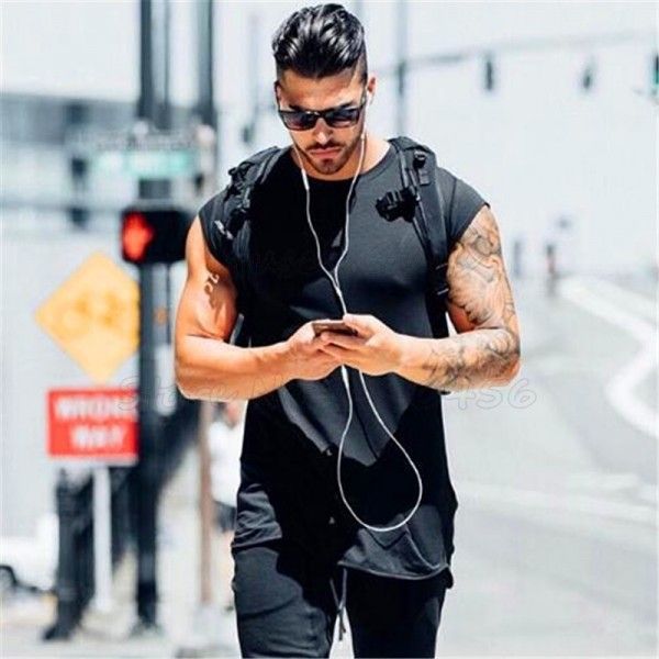 Mens clothing fitness gyms t shirt men bodybuilding muscle short sleeve t shirt male tee shirt homme crossfit tshirt Extra Image 4