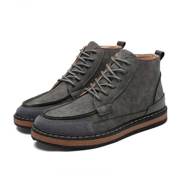 b3a907469b4 Mens Fashion Boots Work Safety Boots Tooling Boots Casual Leather Lace Up  Ankle Boots 3 Color Male Shoes