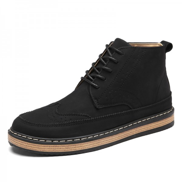 Mens Fashion Boots Work Safety Boots Tooling Boots Casual Leather Lace Up Ankle Boots 3 Color Retro Shoes Footwear Extra Image 2