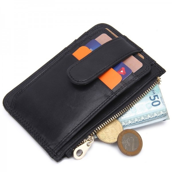 Mens Fashion Short Genuine Leather Wallet Coin Purse Male Money Bag Purses Soft Card Holder Case Brief Design Wallets Extra Image 2