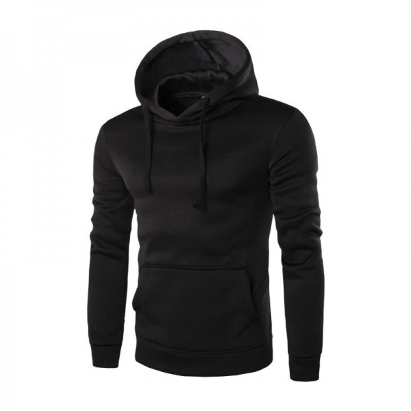 Mens Fleece Jacket Warm Autumn Winter Clothing Solid Color Hooded Coat Warm Male Clothing Plus Size Extra Image 1