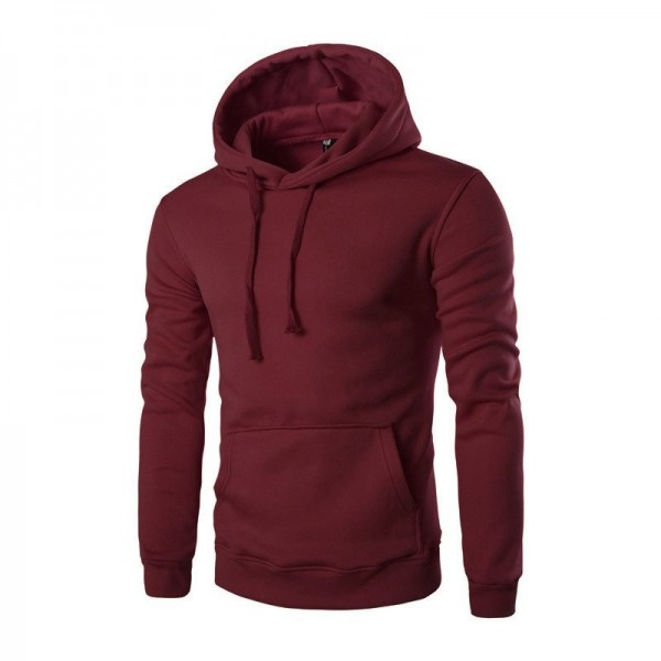 Mens Fleece Jacket Warm Autumn Winter Clothing Solid Color Hooded Coat Warm Male Clothing Plus Size Extra Image 2