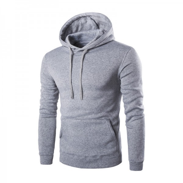 Mens Fleece Jacket Warm Autumn Winter Clothing Solid Color Hooded Coat Warm Male Clothing Plus Size Extra Image 3