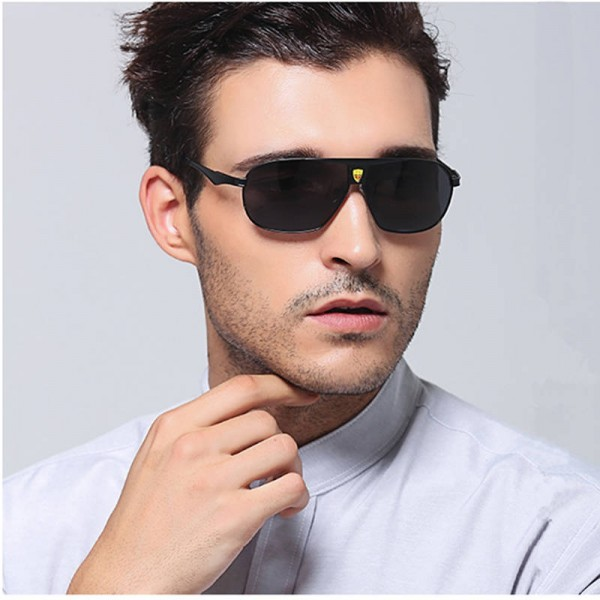 Mens Polarized Sunglasses Driving Outdoor Alloy Frame Sun Shades For Boys Adult Pilot Aviator Eyewear
