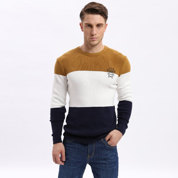 Mens Pullovers Sweaters Autumn Wear Basic Style Youth Preppy Shirts Striped Regular Fashion Thin Cardigan Extra Image 2