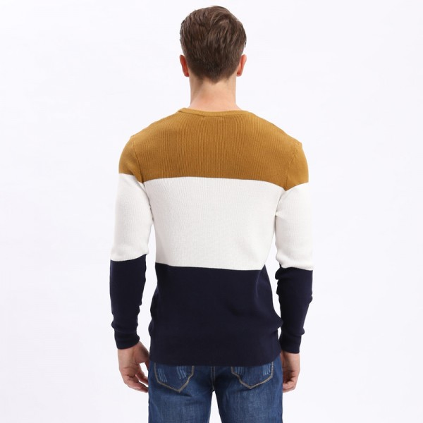 Mens Pullovers Sweaters Autumn Wear Basic Style Youth Preppy Shirts Striped Regular Fashion Thin Cardigan Extra Image 5