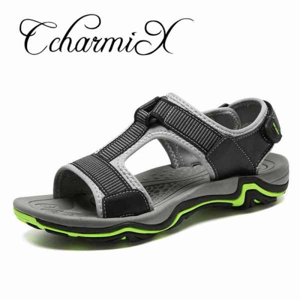 Mens Sandals Genuine Leather 2018 New Summer Men Casual Sandals Breathable Cow leather Design Male Sandals Big Size