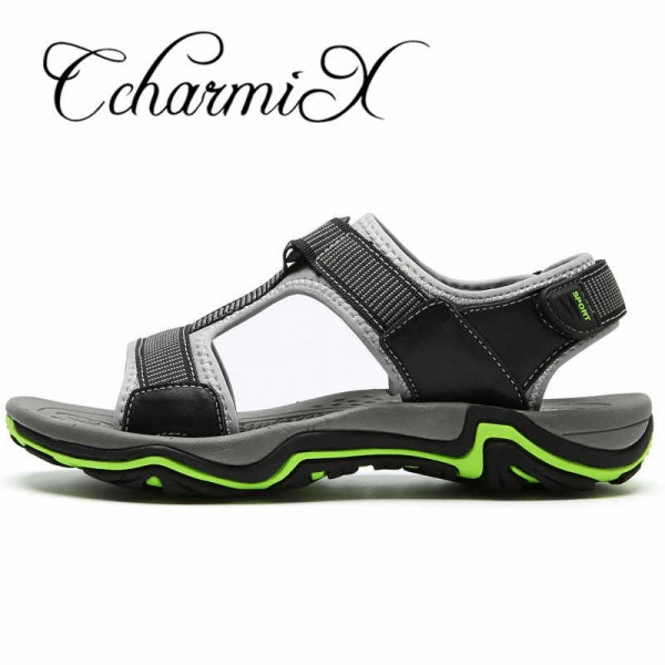 Mens Sandals Genuine Leather 2018 New Summer Men Casual Sandals Breathable Cow leather Design Male Sandals Big Size Extra Image 1