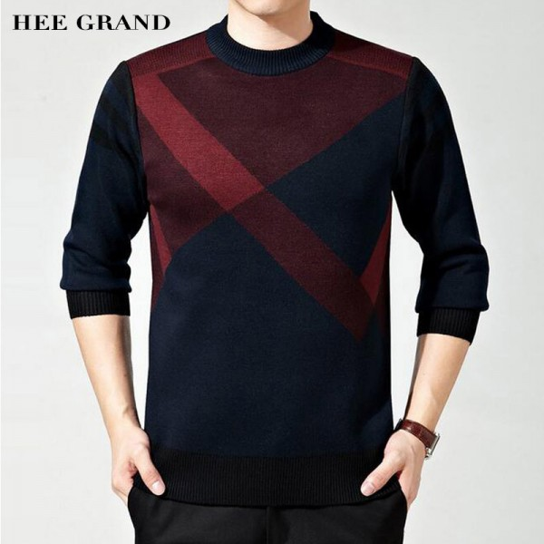 Mens Sweater Winter Casual Slim Pullover O Collar Looser Style  Roupa De Malha Plus Size 5 Colors Male Sweaters Extra Image 1