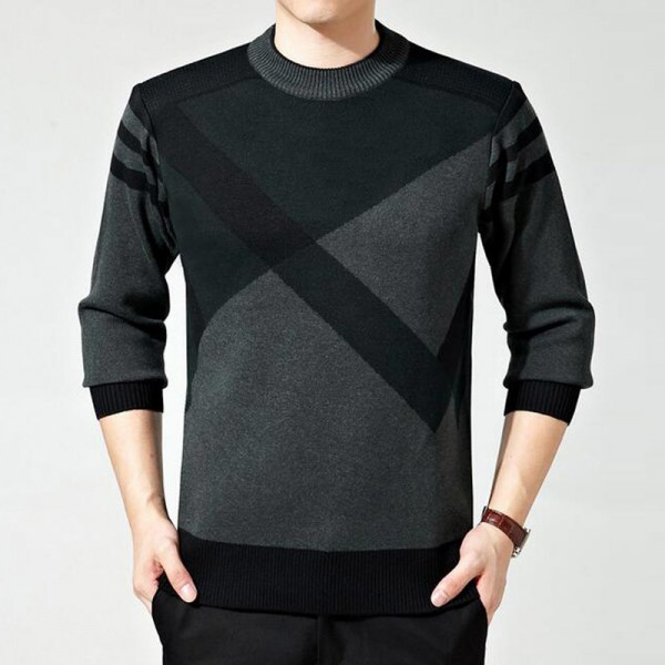 Mens Sweater Winter Casual Slim Pullover O Collar Looser Style  Roupa De Malha Plus Size 5 Colors Male Sweaters Extra Image 2