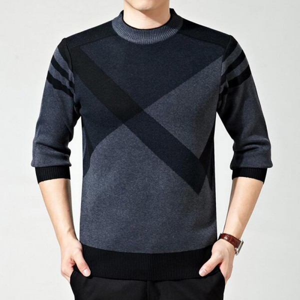 Mens Sweater Winter Casual Slim Pullover O Collar Looser Style  Roupa De Malha Plus Size 5 Colors Male Sweaters Extra Image 3