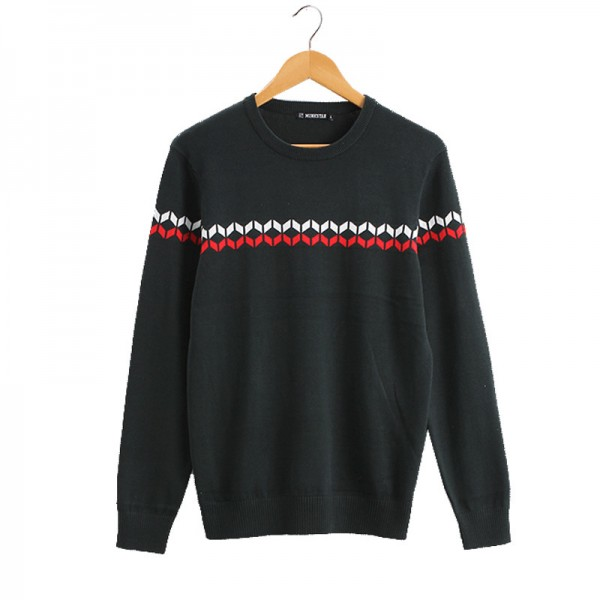Mens Sweaters Pullovers O Neck Striped England Shoulders Link Preppy Style Fashion Men Sweater shirts For Men Extra Image 4