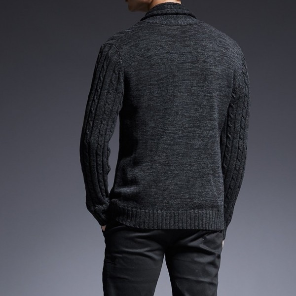Mens sweaters V neck winter Cardigan Knitwear Slim Casual Lapel Single Breasted autumn Wool Cotton brand Men Coat Extra Image 4