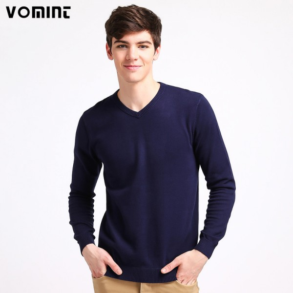 Mens V Neck Basic Cotton Sweaters Pullovers Classic All Match Wear Standard Knitted Youth Shirt Sweatshirt Cardigan Extra Image 1