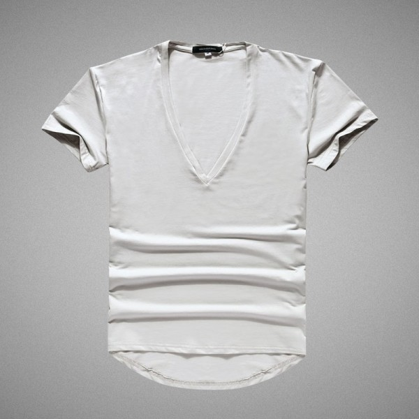 Mens V neck sexy Tshirt men cotton lycra t shirts Short Sleeve Tops Tees Mens T shirt New Mens Summer designer Tops Extra Image 5